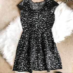 Jessica Simpson Black and Silver A Line Dress
